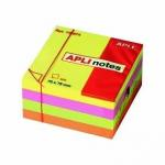 Bloc notes Apli 7.5x7.5cm 4 couleurs