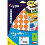 Etiquette multi-usages Apli Ø24mm orange - par 400
