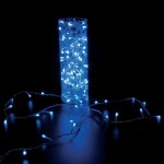 Guirlande 280 leds bleu - 20 m câble transparent