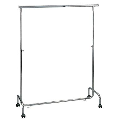 Portant hauteur reglable chrome  L 135 cm-Portants droits