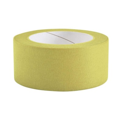 Ruban marquage sol jaune - 50 mm x 33 m-Guidages et portillons
