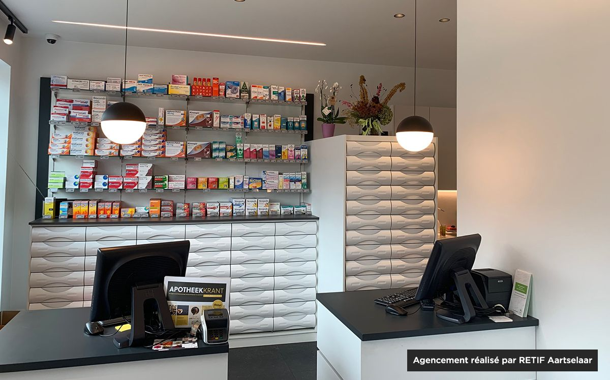 Agencement pharmacie centre-ville